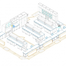 CAD drawing of bigger part of laboratory in 2008